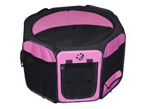 Travel Lite Soft-Sided Pet Pen - Large/Pink
