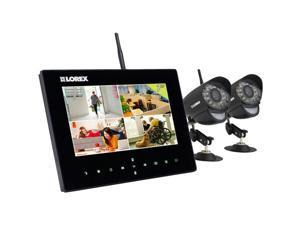 4-Channel Wireless Video Monitoring System for Home with 2 Cameras and 2-Way Talk