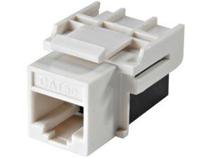 White CAT5e Keystone Coupler - 10-Pack