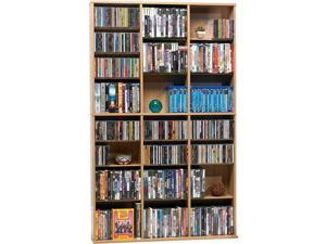 Oskar Wood Mm Cabinet Maple Holds 756 Cds Or 360 Dvds/blu-rays