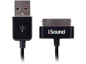 ISOUND ISOUND-1662 30-Pin Charge & Sync Cable, 3ft (Black)