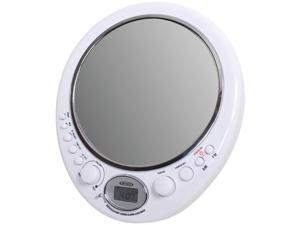 JENSEN AM/FM Alarm Clock Shower radio With Fog Resistant Mirror JWM-150