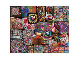 "Jigsaw Puzzle 1000 Pieces 24""X30""-Granny Squares"