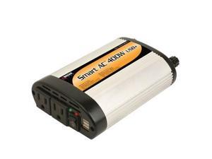 Wagan SmartAC DC-to-AC Power Inverter - Input Voltage: 12 V DC - Output Voltage: 5 V DC, 110 V AC - Continuous Power: 400 W