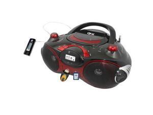 QFX  Radio CD MP3 Player w USB RedJ-30URED