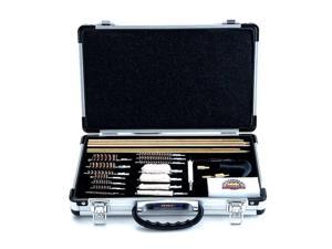 Gunmaster Deluxe Universal 35 Piece Cleaning Kit In Aluminum Carry Case