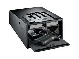 """GunVault Biometric GVB1000 Safe, 8.1""""x4.9""""x12"""", Black GVB1000"""