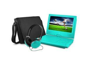 Ematic EPD909TL 9-Inch Portable DVD Player with Matching Headphones and Bag (Teal)