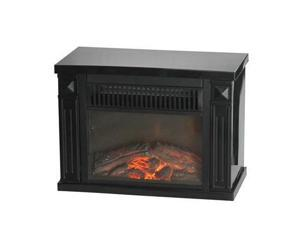 Comfort Glow The Mini Hearth Electric Fireplace (Black) - Electric - 1.20 kW - 2 x Heat Settings - 250 Sq. ft. Coverage Area - 1200 W - Desk - Black