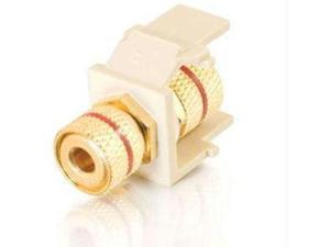 C2G 28741 Snap-In Red Banana Jack F/F Keystone Insert Module - White
