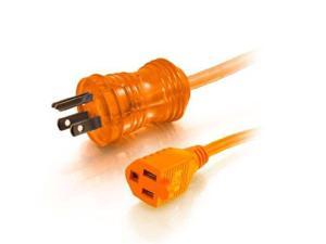 C2G 25ft 16AWG Hospital Grade Power Extension Cable (NEMA 5-15P to NEMA 5-15R) - Orange