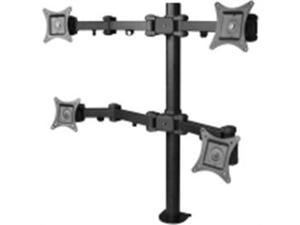 SIIG Accessory CE-MT0S12-S1 Articulating Quad Mount Monitor Desk 13-27inch Retail