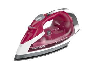 Black & Decker Xpress Steam ICR07X Clothes Iron - Stainless Steel Sole Plate - 1200 W - Red, White
