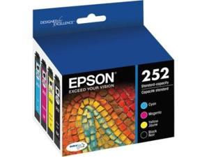 Epson DURABrite Ultra Ink T252 Ink Cartridge - Cyan, Black, Magenta, Yellow - Inkjet - Standard Yield - 4 / Pack
