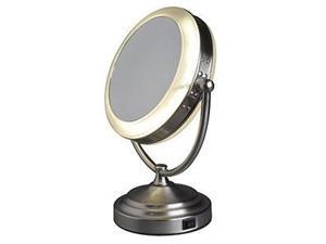 Rialto Daylight Magnifying Mirror - Brushed Nickel