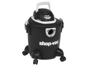 """Shop-Vac Quiet Canister Vacuum Cleaner - 1.49 kW Motor - 190 W Air Watts - 5 gal - Bagged - 6 ft Cable Length - 84"""" Hose Length - 920.1 gal/min - AC Supply - 7.50 A - Black"""