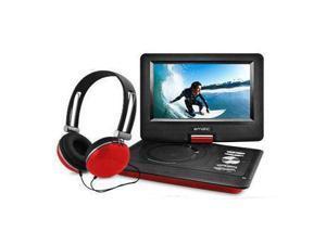 "Ematic EPD116 Portable DVD Player - 10"" Display - 1024 x 600 - Red - DVD-R, CD-R - DVD Video, Video CD, MP4, DivX - CD-DA, MP3 - Lithium Polymer"