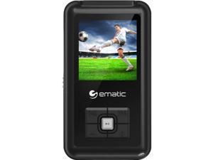 "Ematic EM208VID 8 GB Black Flash Portable Media Player - Photo Viewer, Video Player, Audio Player, FM Tuner, Voice Recorder, e-Book, FM Recorder - 1.5"" - USB - Headphone"