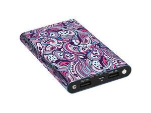 Digital Treasures Portable Charger for Universal/Smartphones, Apple, Android - Retail Packaging - Paisley