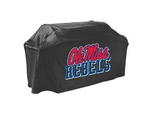 Collegiate Ole Miss (Mississippi) Grill Cover - Supports Barbecue Grill - PVC-free, Water Resistant, Mold Resistant, Mildew Resistant, Temperature Resistant, Rain Resistant, UV Resistant, Dirt Resista