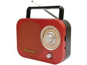 STUDEBAKER SB2000RB Portable AM/FM Radio (Red)