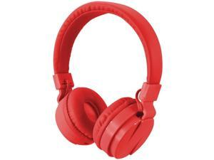 ILIVE iAHB6R Bluetooth(R) Wireless Headphones with Microphone (Red)