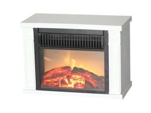Comfort Glow The Mini Hearth Electric Fireplace (White) - Electric - 1.20 kW - 2 x Heat Settings - Indoor - Desk - White