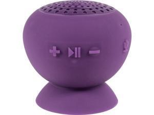 Digital Treasures Lyrix Jive Jumbo Speaker System - 10 W RMS - Portable - Battery Rechargeable - Wireless Speaker(s) - Purple - Bluetooth - USB - Water Resistant, Water Proof, Built-in Microphone, Han