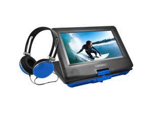 "Ematic EPD116 Portable DVD Player - 10"" Display - 1024 x 600 - Blue - DVD-R, CD-R - DVD Video, Video CD, MP4, DivX - CD-DA, MP3 - Lithium Polymer"