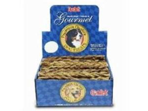 Ims Trading Dog Treat Braided Bull Stick Natural Medium