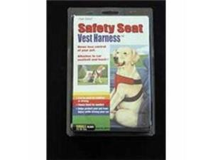 Four Paws Pet Safety Seat Vest Dog Harness Black Small