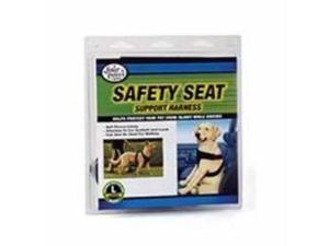 Four Paws Pet Dog Safety Seat Vest Harness Black Large