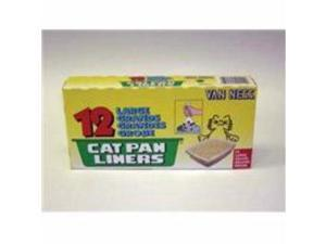 Van Ness Plastic Molding Pure-Ness Cat Pan Liners, 19X15 Inch/12Ct - L-2