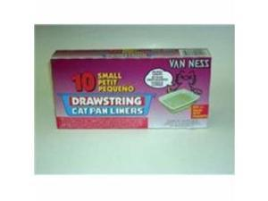 Van Ness Plastic Molding Pure-Ness Drawstring Cat Pan Liners, 10 Count - DLO