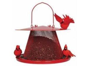 Cardinal No No Bird Feeder Red