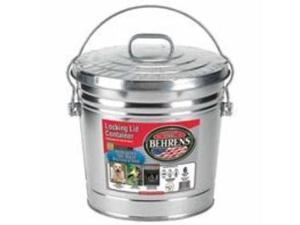 Galvanized Steel Locking Lid Only Steel 6 Gallon