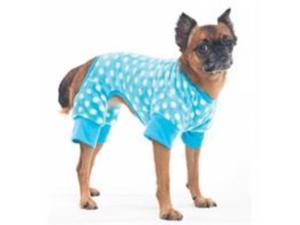 Cozy Fleece Sleeper Dog Pajamas,  Color: Blue, Size: Extra small