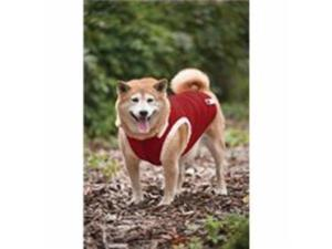 Ribbed Polar Fleece Dog Vest,  Color: Red, Size: Small