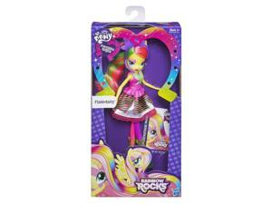 Fluttershy Equestria Girls My Little Pony Neon Rainbow Rocks Doll