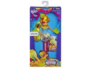 AppleJack Equestria Girls My Little Pony Neon Rainbow Rocks Doll