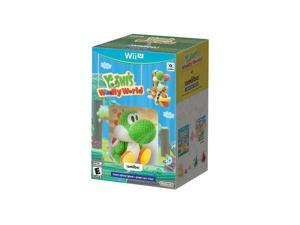 Yoshi's Woolly World + Green Yarn Yoshi amiibo Wii U Video Game Bundle