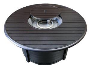 AZ Patio F-1350-FPT Fire Pit, Round Slatted Extruded Aluminum
