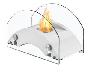 Harbor White Tabletop Ventless Ethanol Fireplace