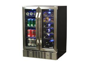 NewAir AWB-360DB 18 Bottle & 58 Can Dual Zone Built-In Compressor Wine & Beverage Cooler