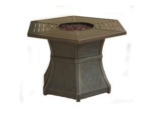 Cambridge HEX1PCFP Hexagonal High-Top Gas Fire Pit Table