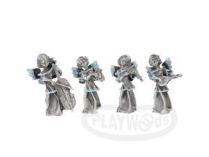 [Queenwoods] Home Decoration - Small Metallic Statue : music angel set