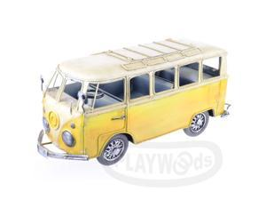 [Queenwoods] Vintage Antique Classic Curio : old-fashioned england yellow bus