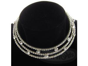 [Queenwoods] Wedding Party Accessories Necklace : white three concentric circles