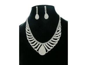[Queenwoods] Wedding Party Accessories Necklace & Earring : silver venus tears