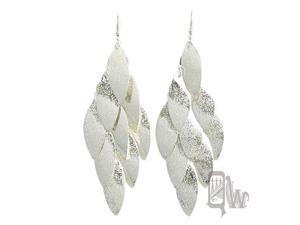 [Queenwoods] Fashion Party Accessories Fish Hook Earring : silver connect leaves